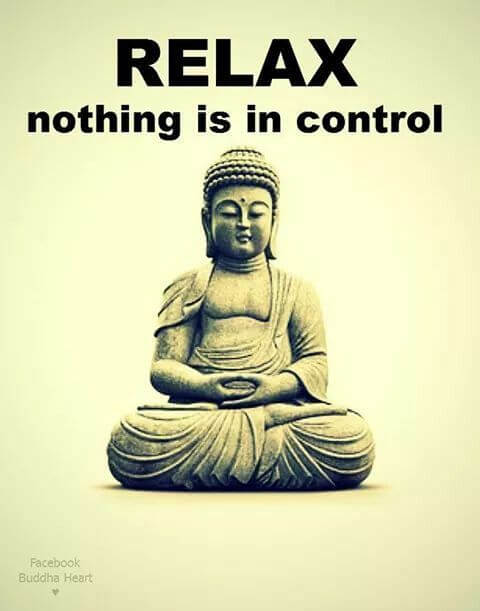 Sun Med Community Wellness Anxiety from Xanax to Zenx - Buddha Image with Relax Nothing is in Control Text